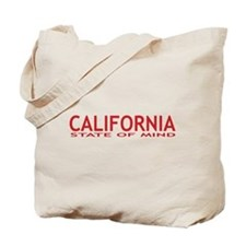 california state of mind red Tote Bag