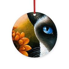 Cat 575 Round Ornament