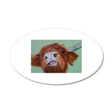 Harley Highland Cow Wall Decal