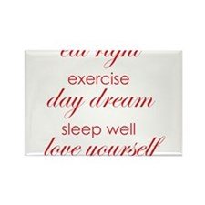 eat right exercise red Rectangle Magnet