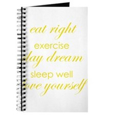 eat right exercise yellow Journal