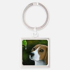 Dog 116 Square Keychain
