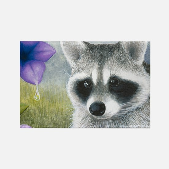 Raccoon 20 Rectangle Magnet