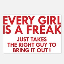 every girl is a freak red Postcards (Package of 8)