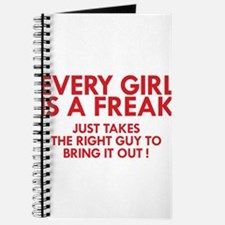 every girl is a freak red Journal