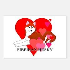 Siberian Husky Postcards (Package of 8)