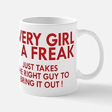 every girl is a freak red Mug