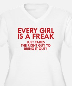 every girl is a freak red Plus Size T-Shirt