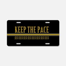 Running Keep the Pace Aluminum License Plate