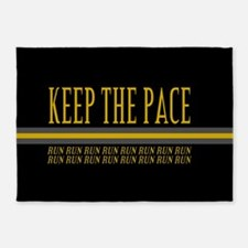 Running Keep the Pace 5'x7'Area Rug