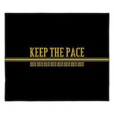 Running Keep the Pace King Duvet
