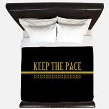 Running Keep the Pace King Duvet