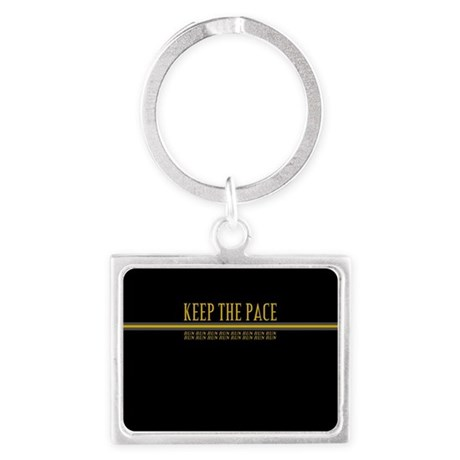 Running Keep the Pace Landscape Keychain