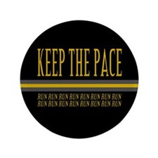 """Running Keep the Pace 3.5"""" Button (100 pack)"""