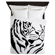Black and white Tiger Queen Duvet