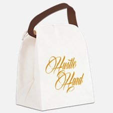 hustle hard orange Canvas Lunch Bag