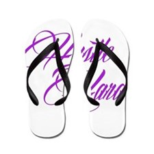 hustle hard purple Flip Flops