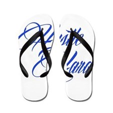 hustle hard blue Flip Flops