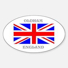 Oldham England Sticker (Oval)