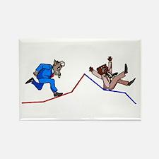 Stock Chart Rectangle Magnet