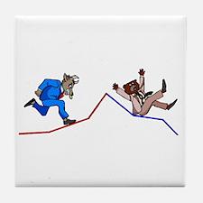 Stock Chart Tile Coaster