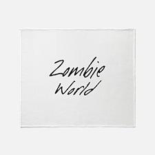 Zombie World Throw Blanket