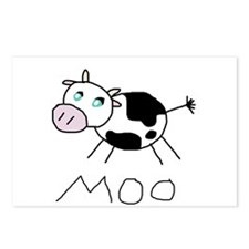 Moo Cow Postcards (Package of 8)