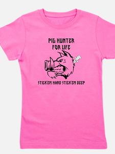 Cute Wild pigs Girl's Tee