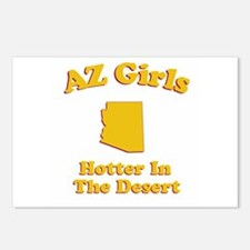 AZ Girls Postcards (Package of 8)