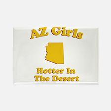 AZ Girls Rectangle Magnet
