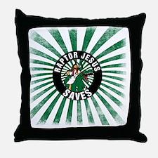 Raptor JESUS Throw Pillow