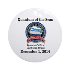 Cute Caribbean cruise Ornament (Round)