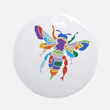 The Bee Ornament (Round)