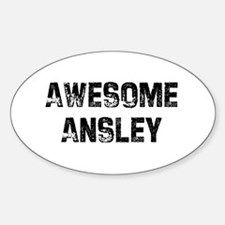 Awesome Ansley Oval Decal