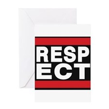 respect red Greeting Card