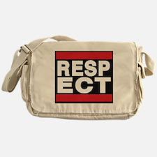 respect red Messenger Bag