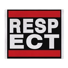 respect red Throw Blanket
