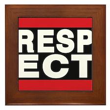respect red Framed Tile