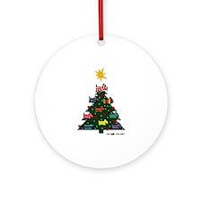 SCOTTISH TERRIER CHRISTMAS TREE Ornament (Round)