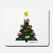 SCOTTISH TERRIER CHRISTMAS TREE Mousepad