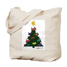 SCOTTISH TERRIER CHRISTMAS TREE Tote Bag