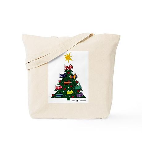 SCOTTISH TERRIER CHRISTMAS TREE Tote Bag