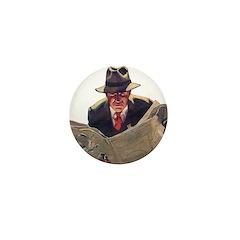 Black Mask Mini Button (100 pack)