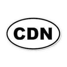 Canada CDN Oval Car Magnet