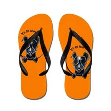 Skye Terrier IAAM Orange Flip Flops