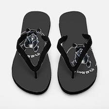 Skye Terrier IAAM Black Flip Flops