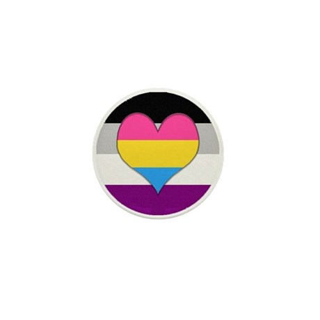 Panromantic Asexual Heart Mini Button