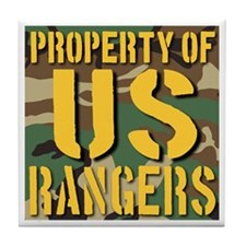 Property of US Rangers Tile Coaster
