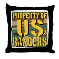 Property of US Rangers Throw Pillow