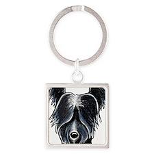 Skye Terrier Portrait Keychains